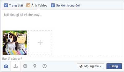 them nhan dan vao anh tren facebook