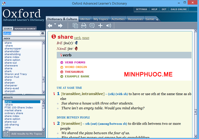 Từ điển Oxford Advanced Learner's Dictionary 8th