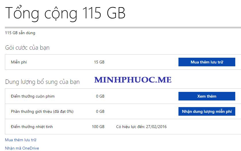 OneDrive 100GB